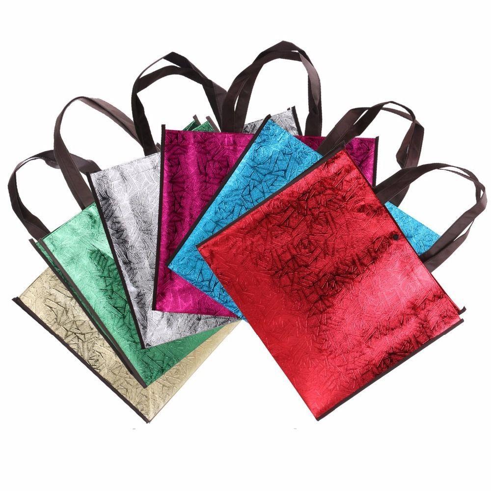 Bling Glossy Non-woven Laser Shopping Bag Gift Bags, Fashion Shiny Tote Bag