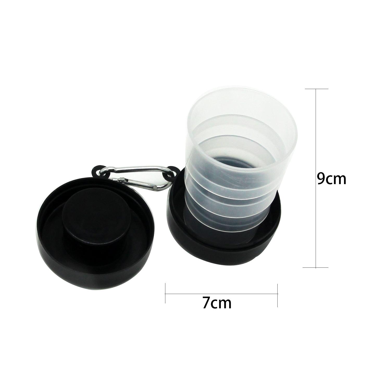 Telescopic Cup Silicone Plastic Travel Folding Cup/Telescopic Plastic Travel Folding Cup