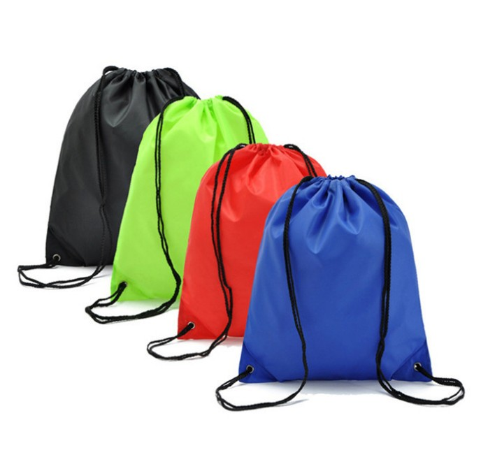 Wholesale Customize Cheap Drawstring GYM Bag Polyester Sport Promotional Backpack Bag
