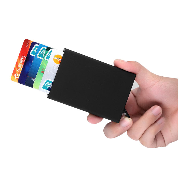 Aluminum Pop Up Name Card Credit Card Holder