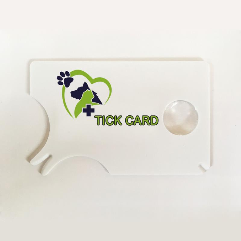 Credit card sized Tick Remover Card
