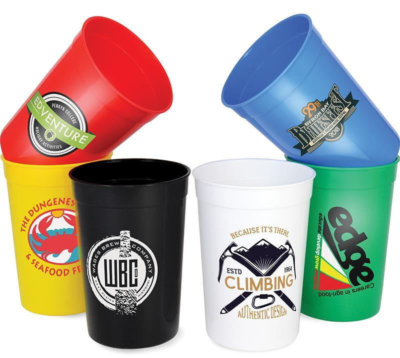 Custom Advertising 16OZ PP Plastic Stadium Cups