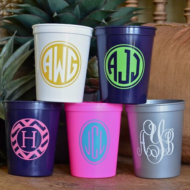 12oz colored Party Stadium Plastic Cups