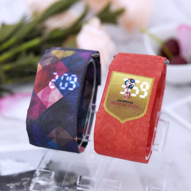 2018 Custom OEM Digital Paper Wrist Watch Paper Watch