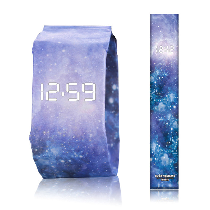 New Design Super Light Stylish Digital Wrist Watch Waterproof Paper Watch