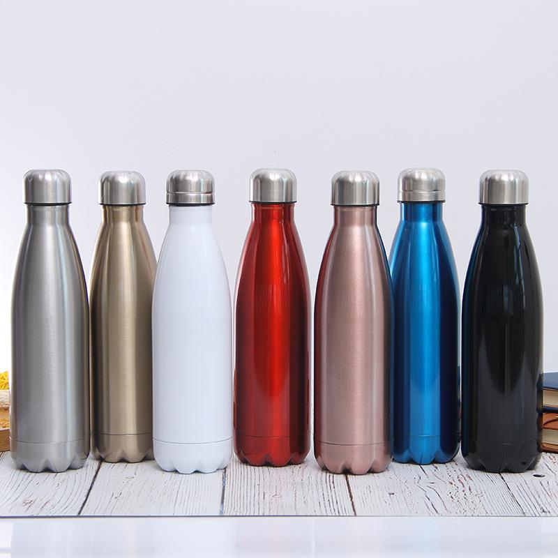 500ml double-wall stainless steel sports water bottle