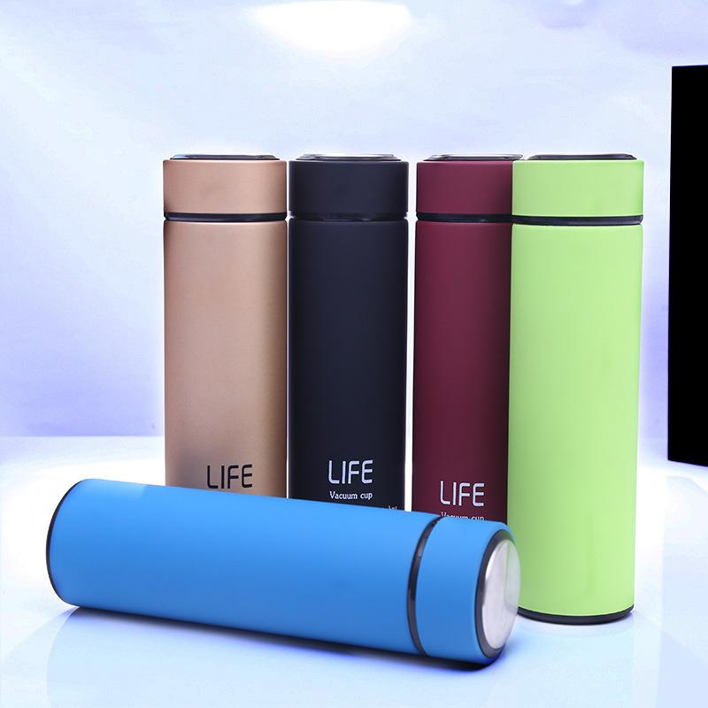 500 ml travel vacuum insulated stainless steel thermos sports drink water bottle
