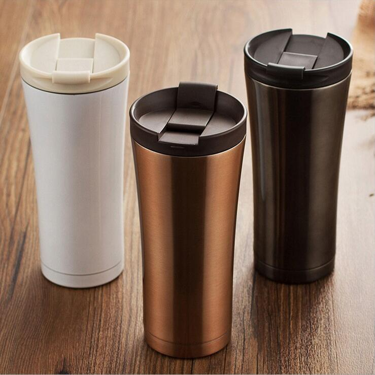 Insulated vacuum stainless steel thermos coffee bottle