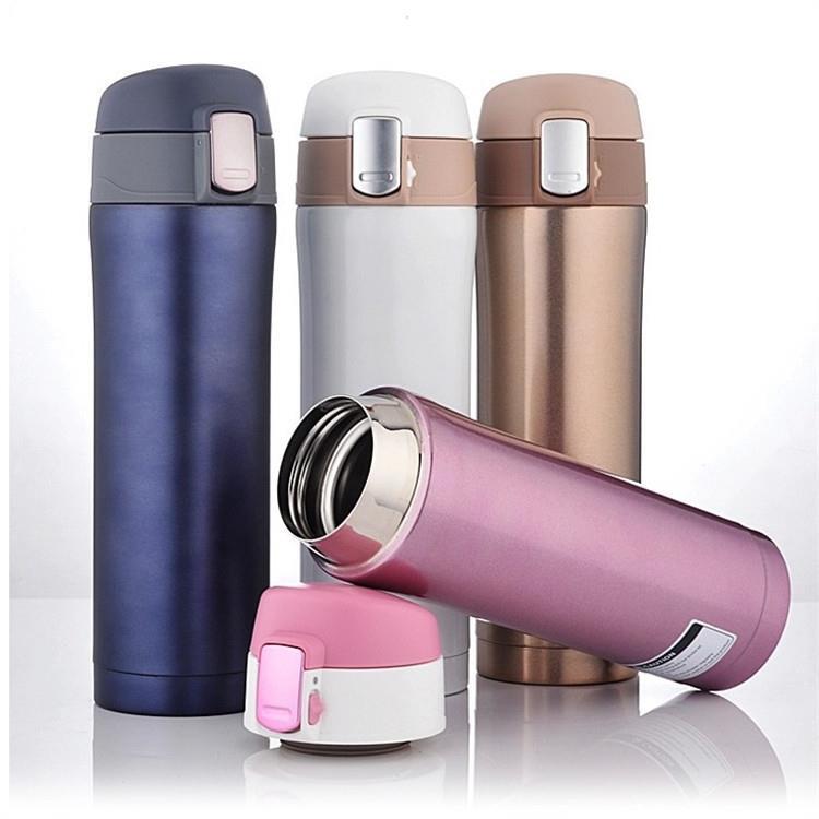 350ml 450ml Double Wall Stainless Steel Vacuum Flasks Coffee Tea Travel Water Bottles