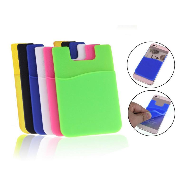 Custom silicone support mobile cell phone credit card holder and Bracket