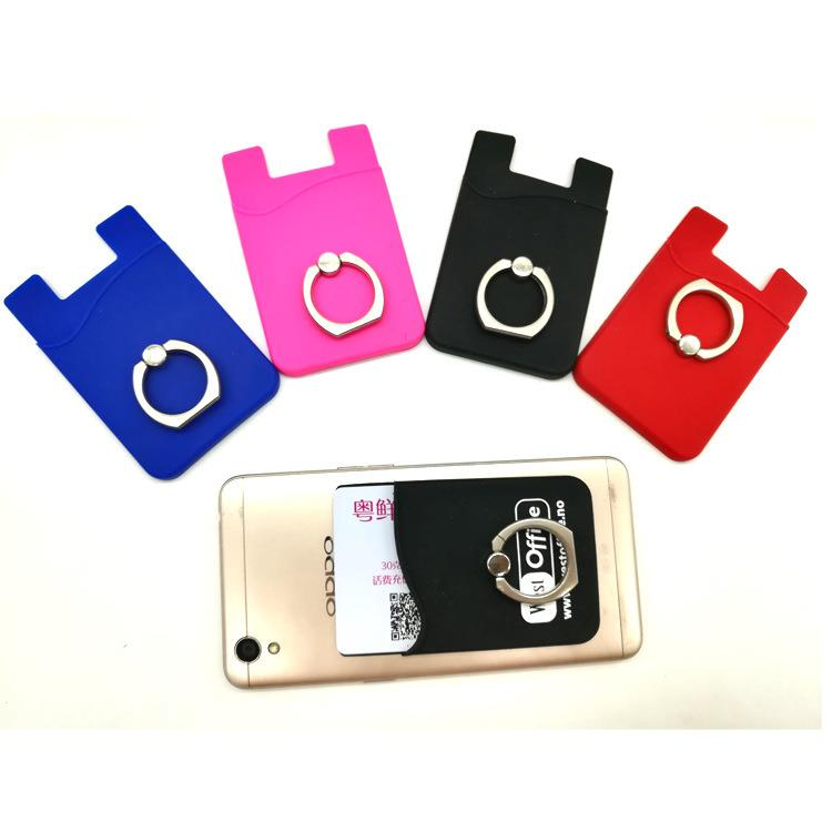 Customized Smartphone Accessory Silicone 3M Sticker Credit Card Holder