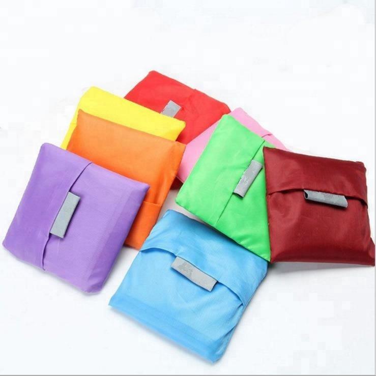 Custom Supermarket Decorative Oxford Fabric Foldable Shopping Bag