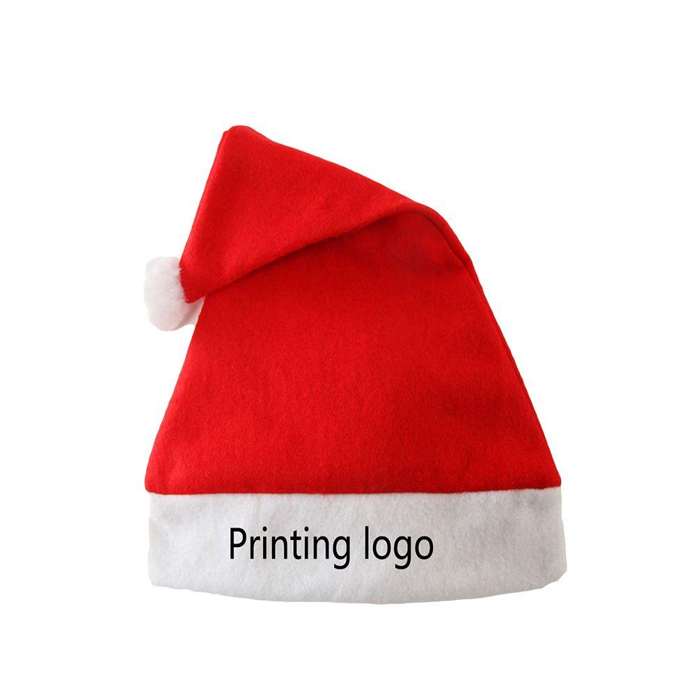Promotion Cheap Custom Embroidered Logo Felt Christmas Hat