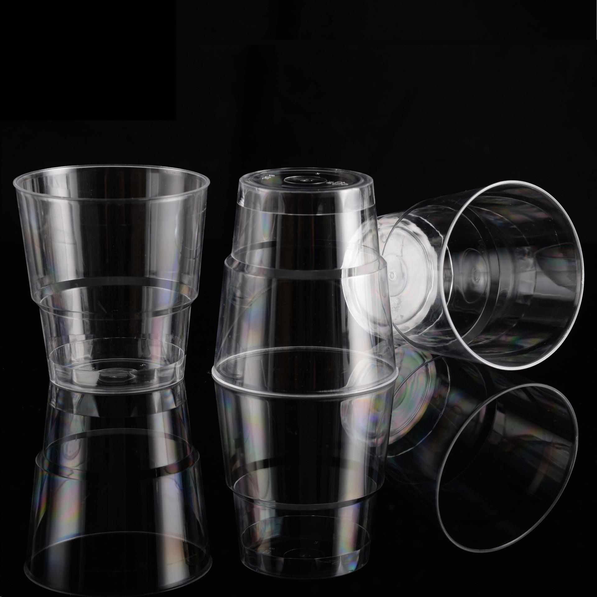 Aviation Cup 180ML Disposable Plastic Cup Transparent  -Aperture Hard Plastic Cup