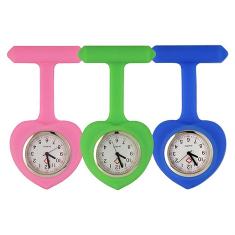 Silicone Nurse Watch Digital Nurse Watch Heart Shaped Pocket Watch