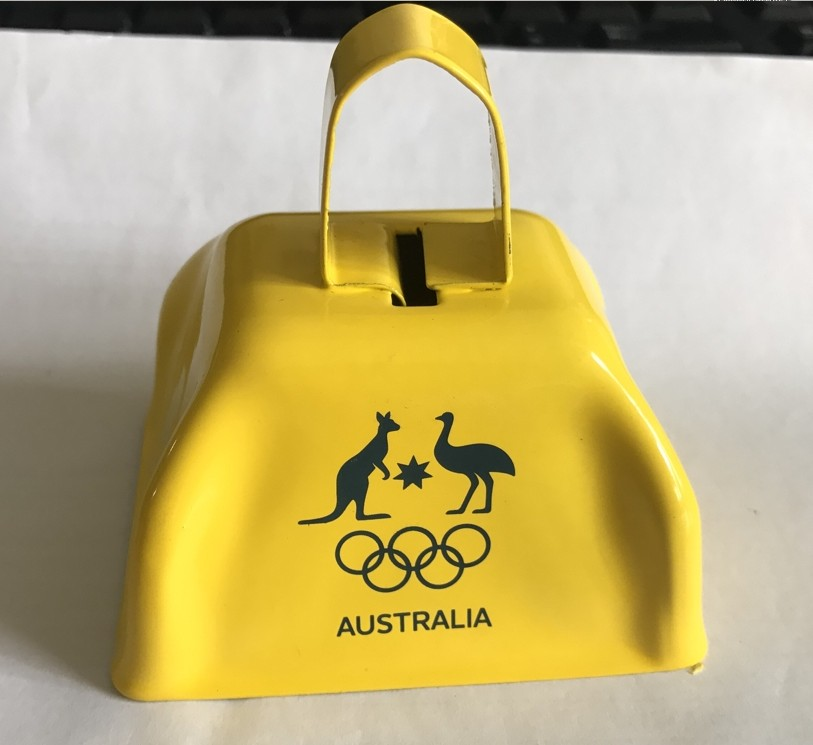 Custom Logo Wholesale Noise Maker Yellow Cow Bells for Sporting