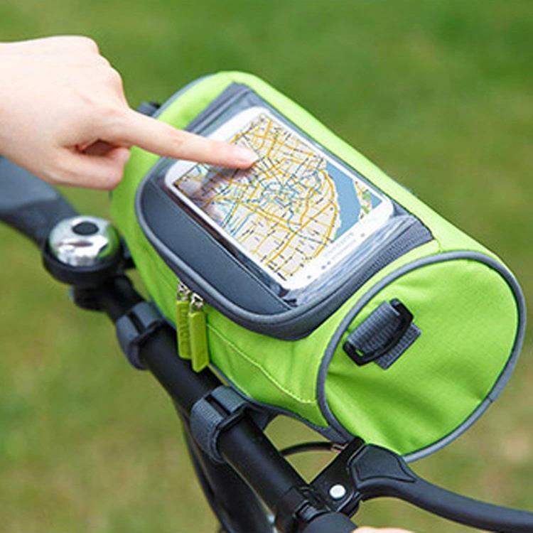 Waterproof Bicycle Bag Portable Bike Handlebar Tube Bag With Pouch Bike Travel Bag With Phone