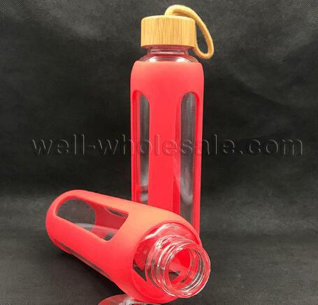 600ML Borosilicate glass drink bottle