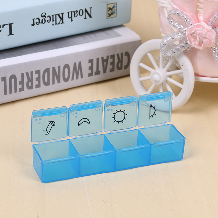 7 Day Pill Box 4 Times a Day Pill Organizer