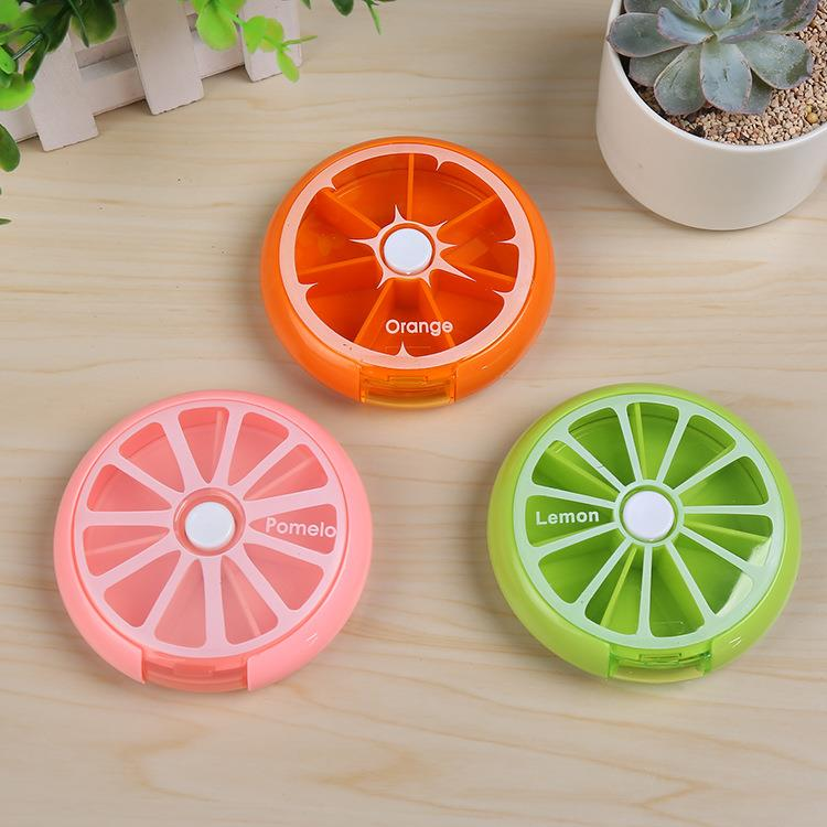 2018 plastic new Rotate Round 7 Compartment Weekly Pill Box