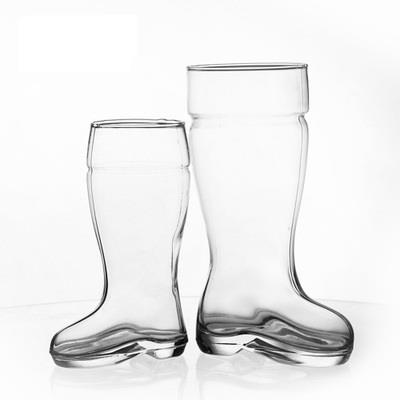 Glass beer boot cups
