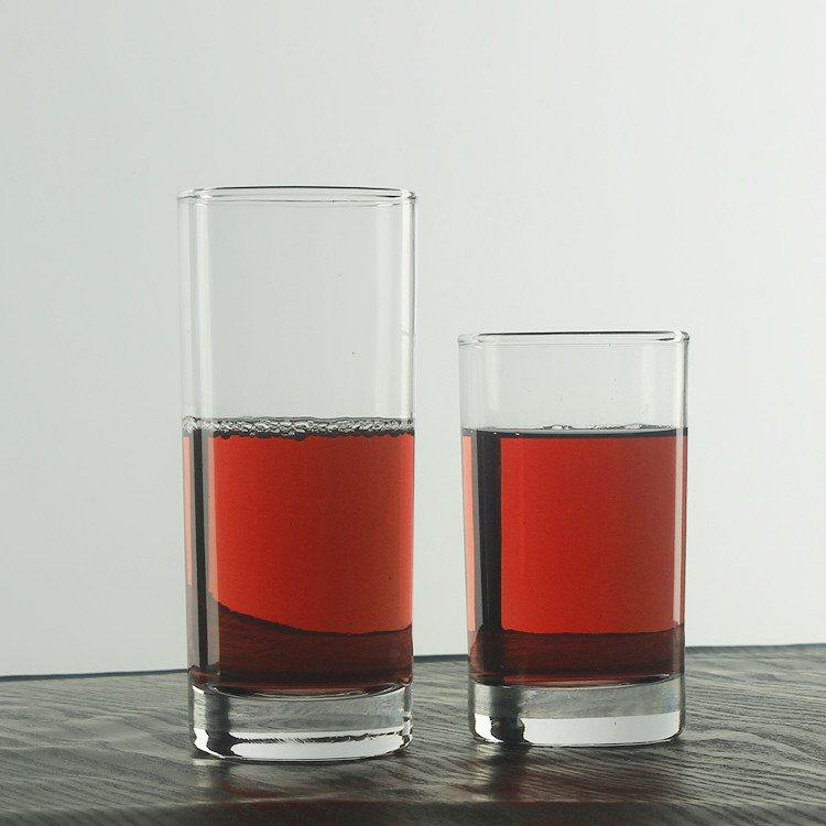 Necessary Drinking Tableware Shape Liquor Tempered Glass Cup
