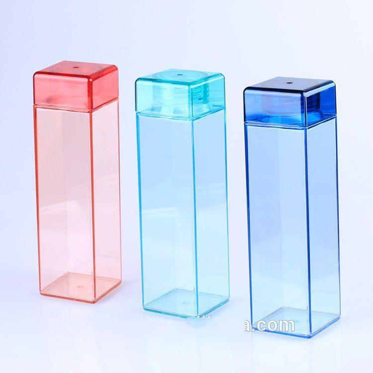 450ml Square Unbreakable Plastic Water Bottle