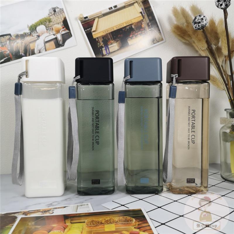 500ml square pillar design square shaped water bottle tritan water bottle