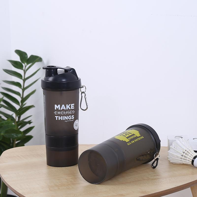 custom 600ml protein powder shaker bottle
