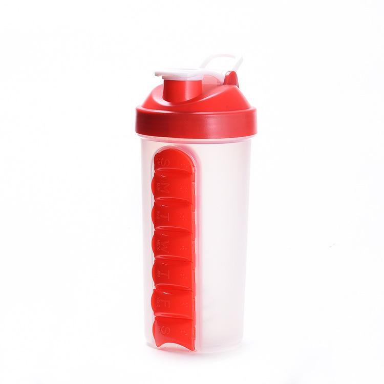 700ML Sports Combine Daily Pill Box Organizer Shaker Bottles
