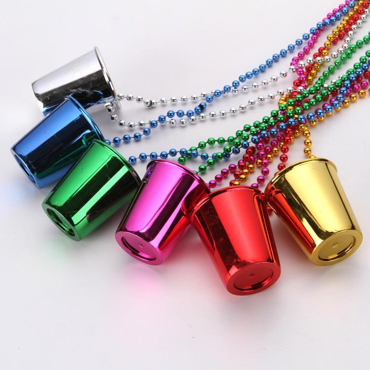 Plastic beads Birthday Party Decoration Pendant Happy Birthday Shot Glass Chain Necklace