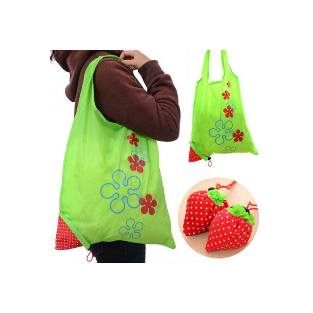 reusable polyester garment storage tote foldable bag folding shopping bag