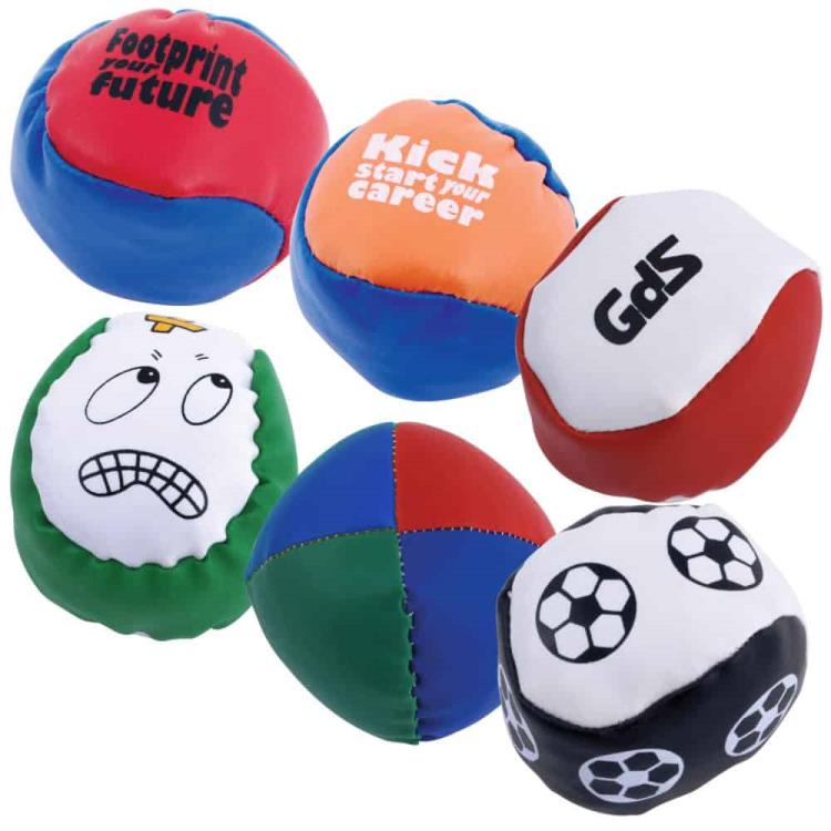 Custom panel Hacky Sack with LOGO printing