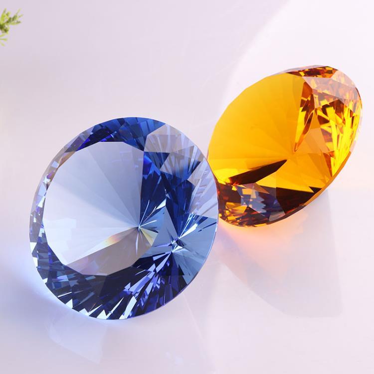 large diamond or decorative glass diamonds