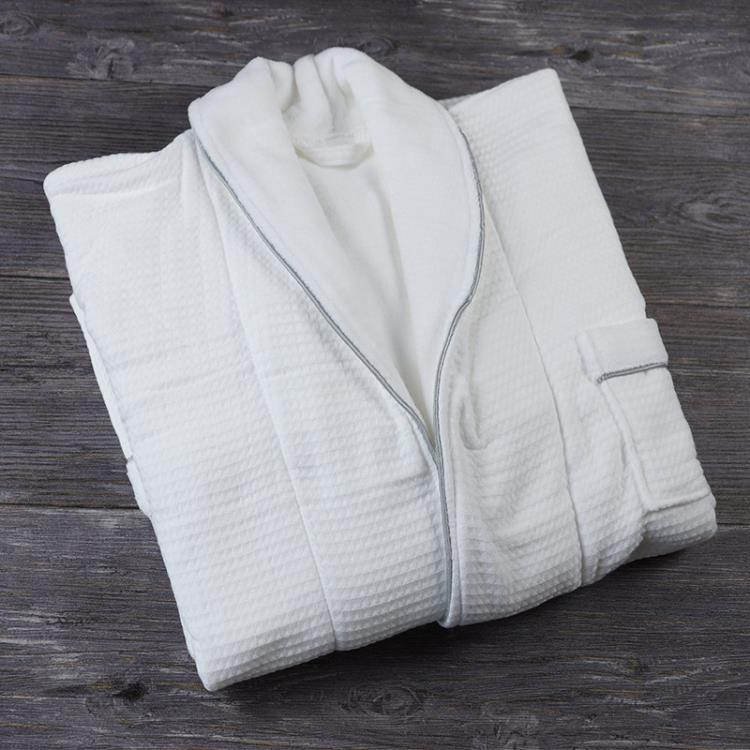 Hotel Cotton terry towel For Mens long section Bathrobe
