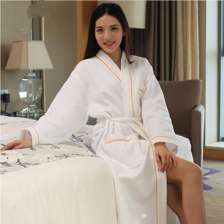100% cotton Breathable male and female bathrobe