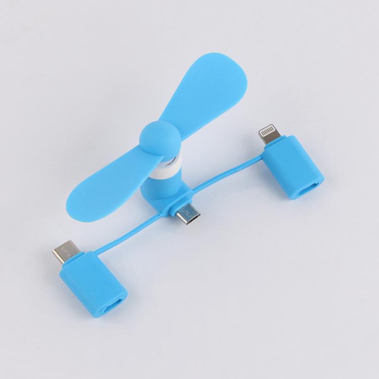 3 in 1 Type -C Fan Portable Mobile Phone USB Mini Fan