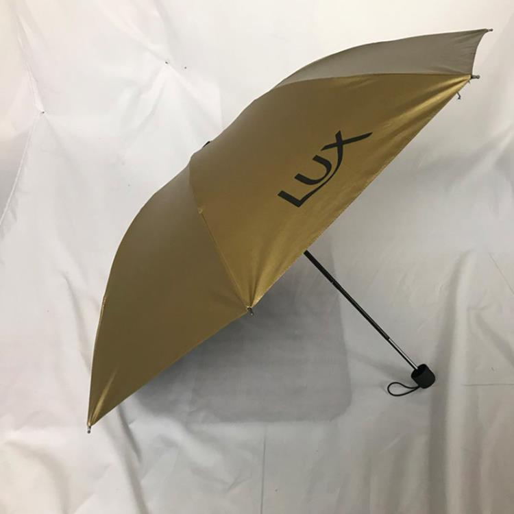wholesale three folding Gold uv waterproof with logo