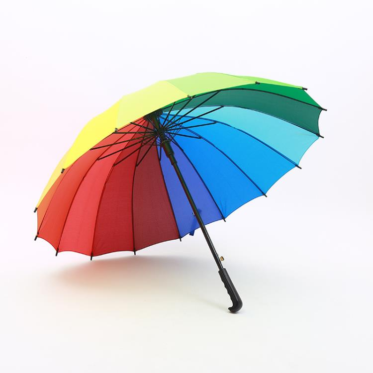 promotional straight rainbow umbrella