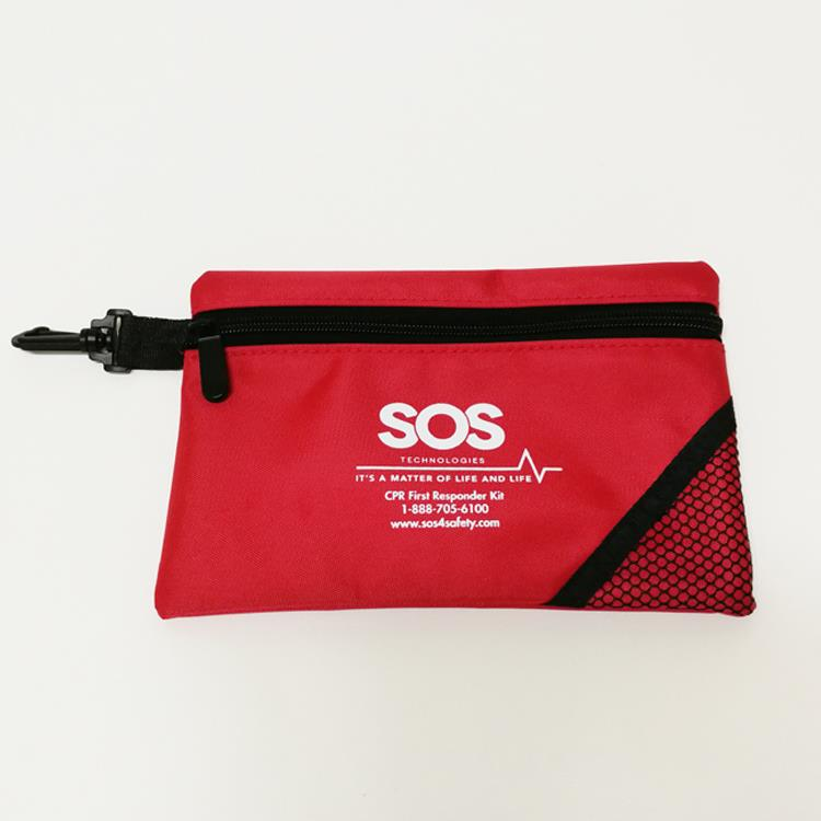 Wholesale Custom Logo Printed Polyester Nylon Zipper Pouch Bag