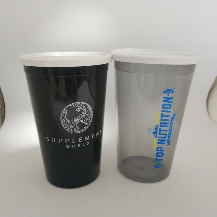 16OZ promotional plastic single wall stadium cups with lid