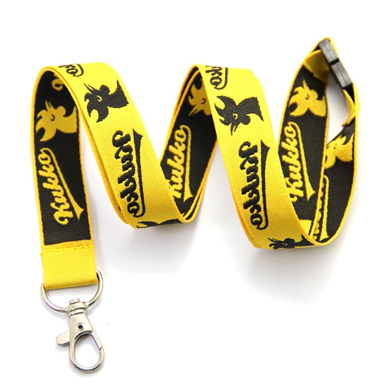 Customized good quality nylon lanyard with logo