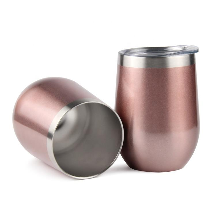 12OZ Stainless Steel Insulated Egg Shape Beer Drinking Cup Coffee Mug