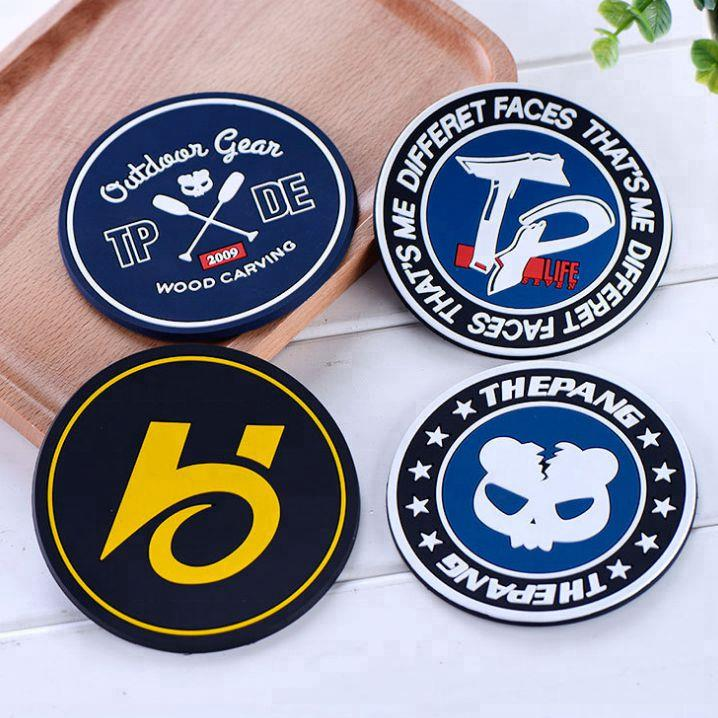 Promotional custom PVC soft rubber coaster