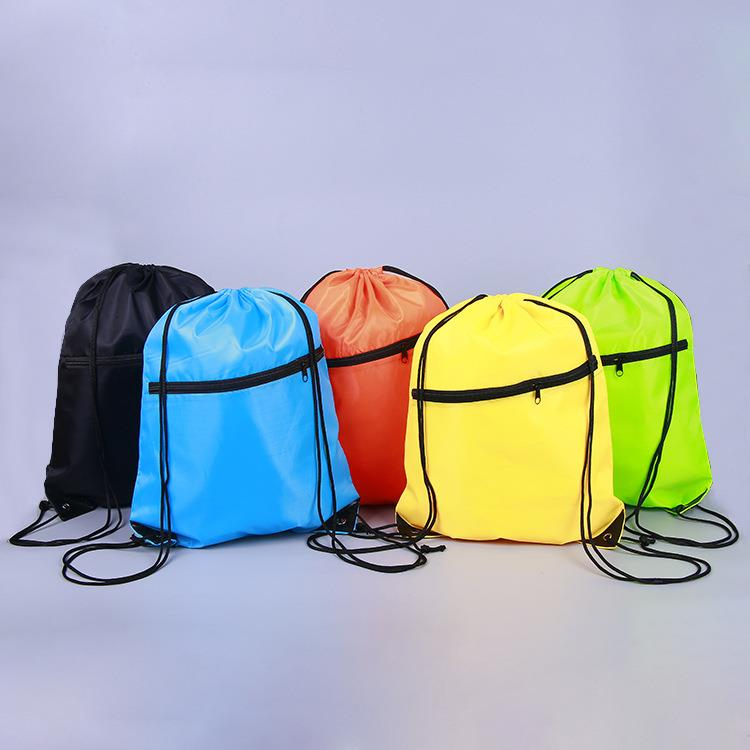 Sport Gym Swim Nylon Drawstring Backpack