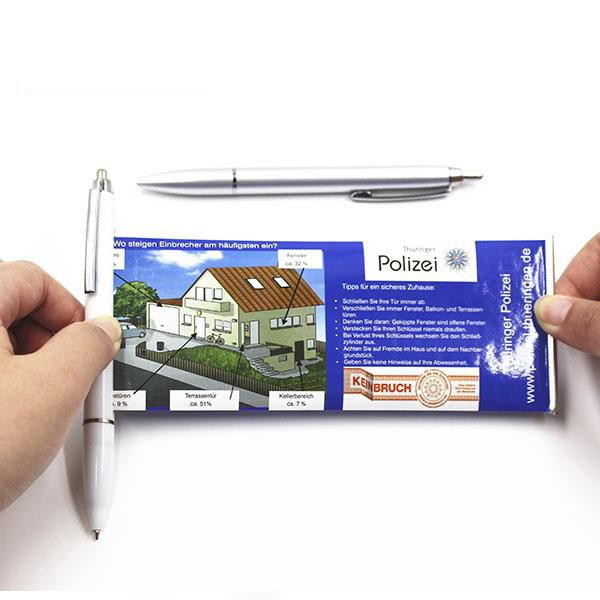 advertising promotional banner pull out banner pen gift ball point pens