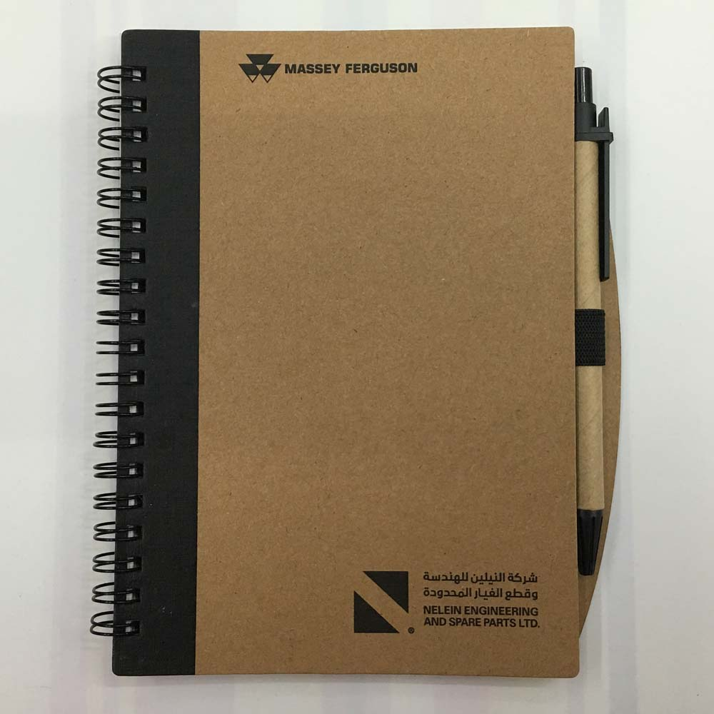 Promotional items custom A5 Spiral Notebook Brown Kraft Cover With Logo