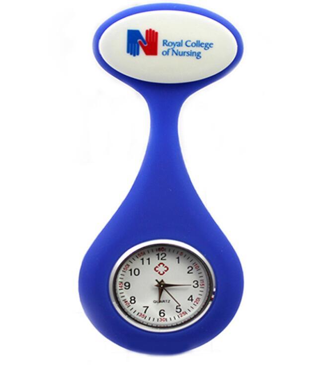 Waterproof Brooch Silicone Nurse Pocket Fob Doctor Watch