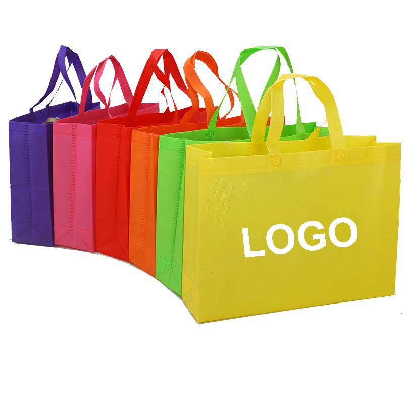 2018 Hot Selling Pure Color Shopping Bag Non-woven Tote Bag With Your Logo For Company Supermarket