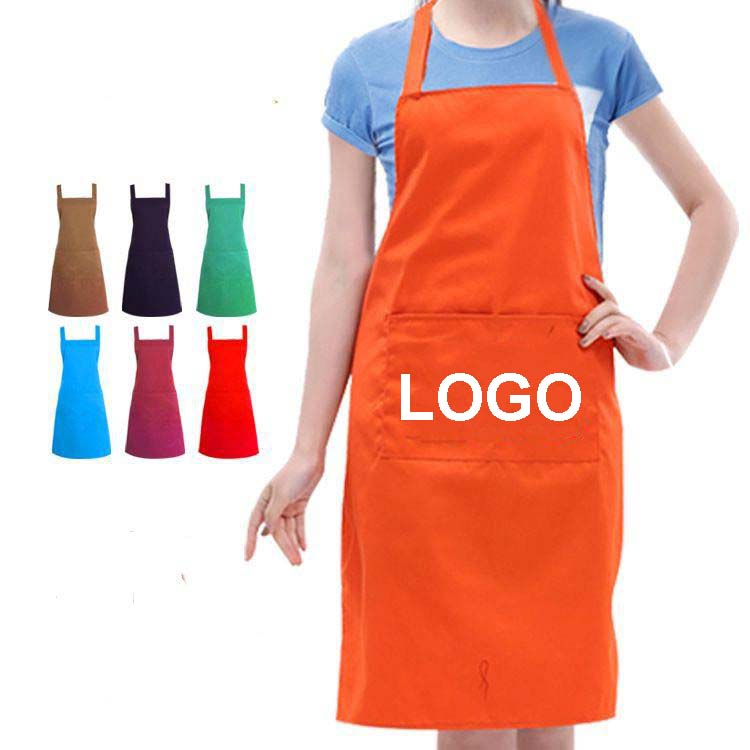 High Quality Custom Polyester Apron Plain Long Art Apron for Adults